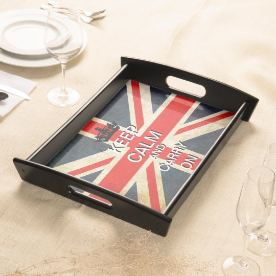 Keep Calm Carry On Union Jack Serving Tray