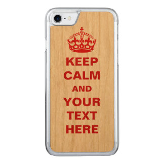 Keep Calm Carved iPhone 7 Case