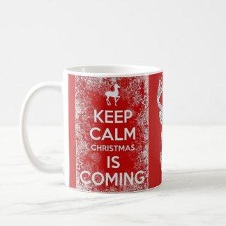 Keep Calm Christmas Holiday reindeer mug