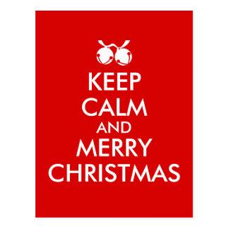Keep Calm Christmas Postcard Jingle Bells Custom