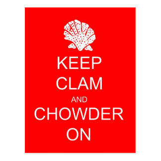 Keep Calm Clam Chowder Post Card