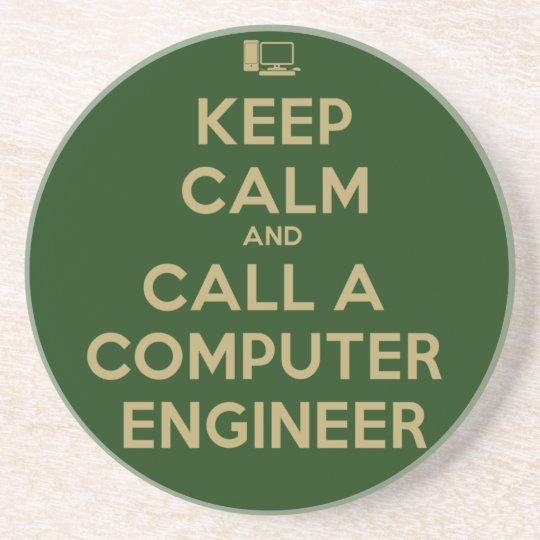 Keep Calm Computer Engineer Coaster