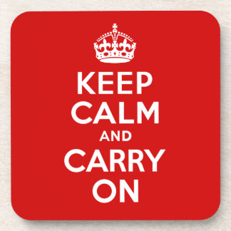 Keep Calm Cork Coaster
