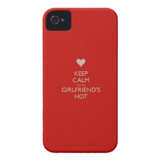 Keep Calm Coz My Girlfriends Hot iPhone 4 Case-Mate Cases