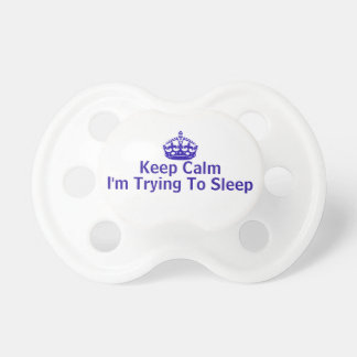 Keep Calm Crown Baby Pacifier