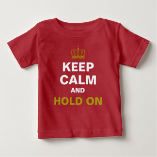 KEEP CALM & Crown gold + your own text Baby T-Shirt