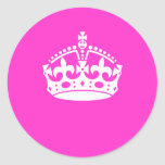 KEEP CALM CROWN on Hot Pink Customize This!