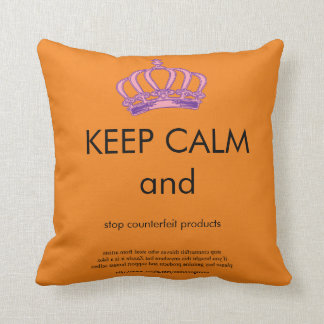 Keep Calm Crown Promotional Copy Text Throw Pillow