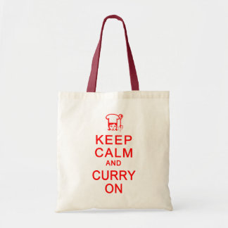 KEEP CALM & CURRY ON bag - choose style