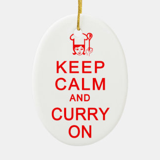 Keep Calm & Curry On ornament - customize