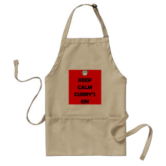 'KEEP CALM, CURRY'S ON' Apron