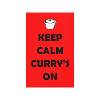 'KEEP CALM, CURRY'S ON' Printed Canvas