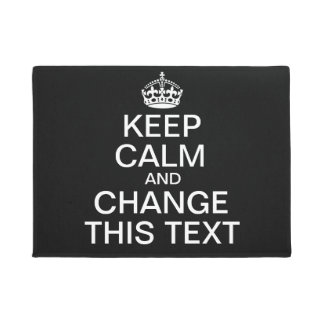 Keep Calm Custom Text Doormat