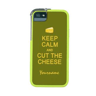 Keep Calm & Cut The Cheese custom cases iPhone 5 Case