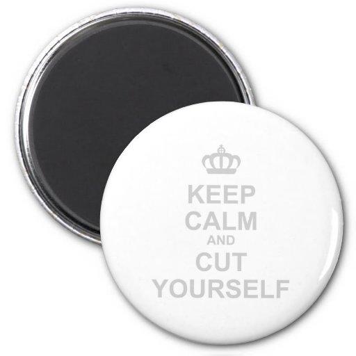 Keep Calm & Cut Yourself - Emo Rock Alternative Refrigerator Magnets