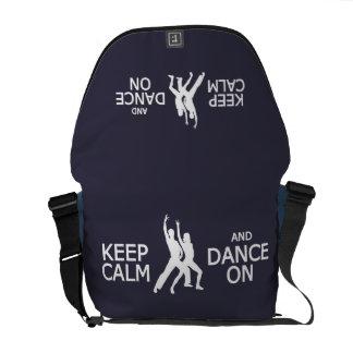 Keep Calm & Dance On custom color messenger bag