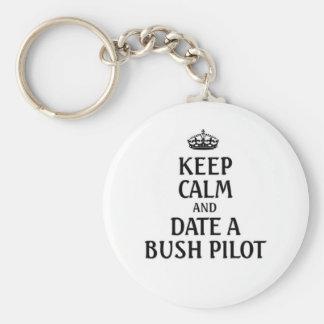 Keep calm date a Bush Pilot Keychain