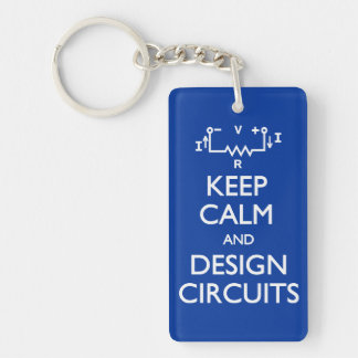 Keep Calm Design Circuits Single-Sided Rectangular Acrylic Keychain