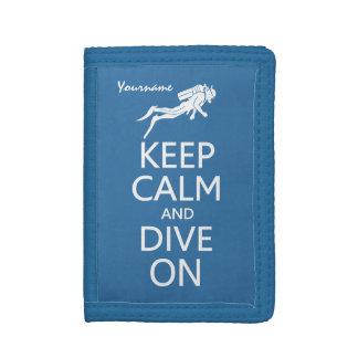 Keep Calm & Dive On custom wallets