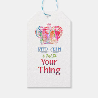 Keep Calm Do Your Thing Gift Tags