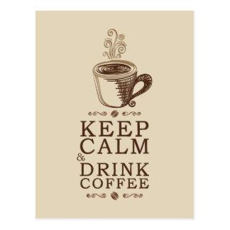 Keep Calm Drink Coffee - Beije Postcard