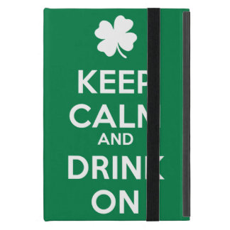 Keep Calm Drink On Shamrock  St Patricks Day iPad Mini Cover