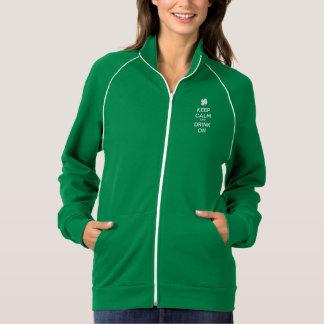 Keep Calm Drink On Shamrock  St Patricks Day Jacket