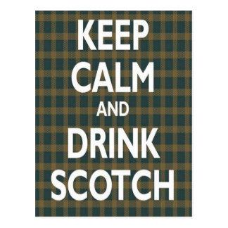 Keep Calm & Drink Scotch Postcards