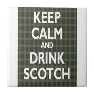 Keep Calm & Drink Scotch Tile
