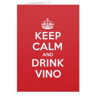 Keep Calm Drink Vino Greeting Note Card