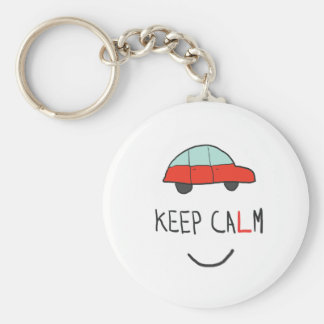Keep Calm Driving Test Keychain