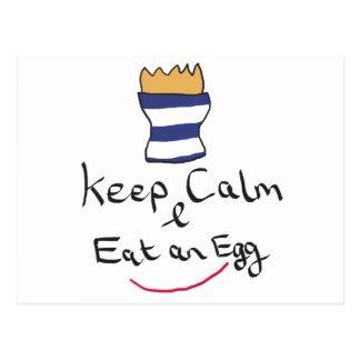 Keep Calm Eat an Egg Postcard
