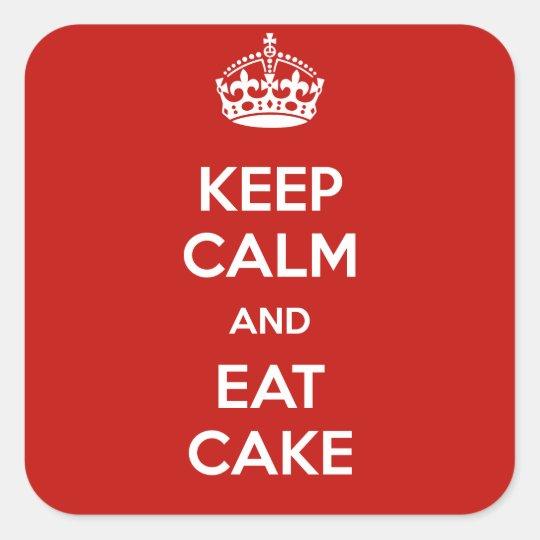 Keep Calm & Eat Cake Sticker