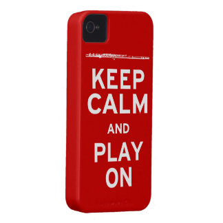 Keep Calm Flute iPhone 4 Case-Mate Case
