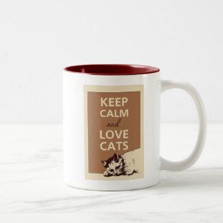 Keep Calm for Cat lovers Mug