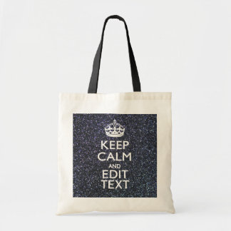 Keep Calm for Your Text on Midnight Style Tote Bag