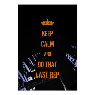 Keep calm funny cover fitness inspired poster