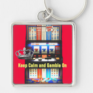 Keep Calm Gamble on Slot Machine Keychain