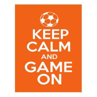 Keep Calm & Game On Postcard