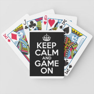 Keep Calm Game On Video Games Geek Bicycle Playing Cards