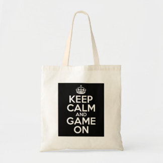 Keep Calm Game On Video Games Geek Nerd Tote Bag