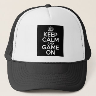 Keep Calm Game On Video Games Geek Trucker Hat