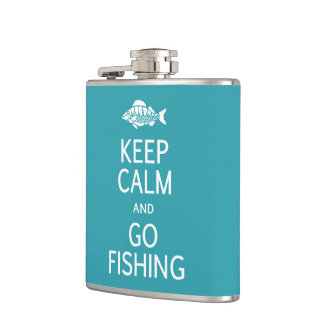 Keep Calm & Go Fishing custom flask