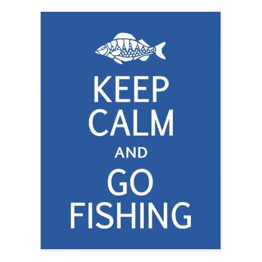 Keep Calm & Go Fishing postcard
