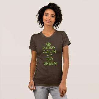 """""""Keep Calm Go Green"""" T-Shirt"""