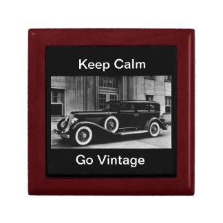 Keep Calm Go Vintage Keepsake Box