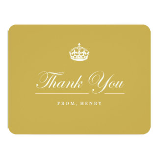 Keep Calm Gold 60th Birthday Party Thank You Card