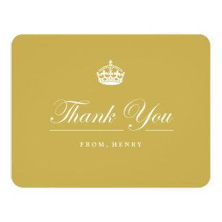 "Keep Calm Gold 60th Birthday Party Thank You Card 4.25"" X 5.5"" Invitation Card"