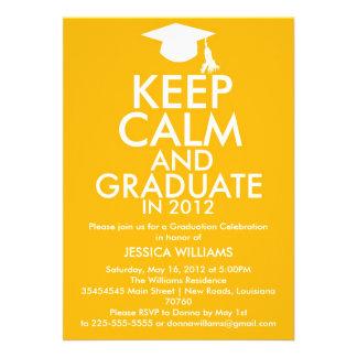 Keep Calm Graduation Custom Invites