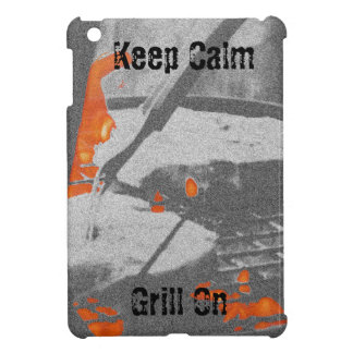 Keep Calm Grill On iPad Cover